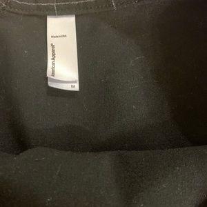 American Apparel black tennis mini skirt